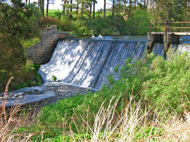 The sluice at Garlogie Dam
