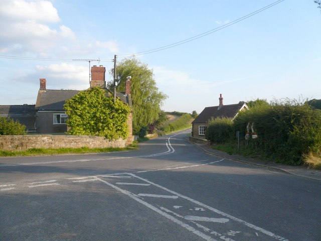 Road junction at Stainsbybrook, Stainsby