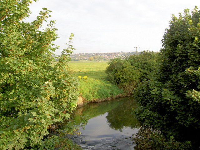 A benign river Dearne after the recent floods.