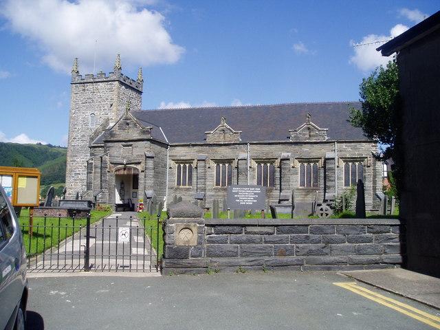 St Peters, Parish church at Machynlleth