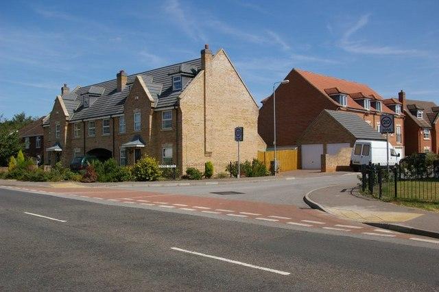 New housing estate in Downham Market