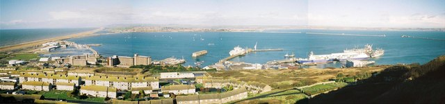 Portland Harbour: a panoramic view
