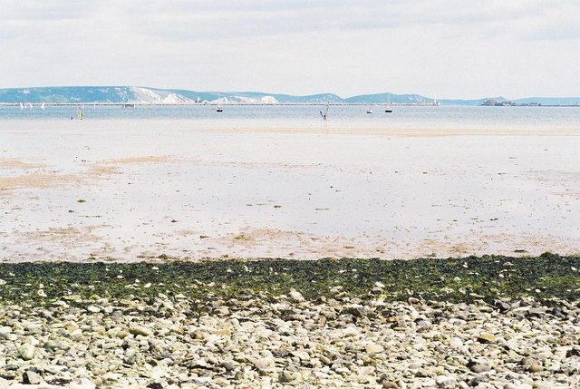 Portland Harbour from Chesil Beach