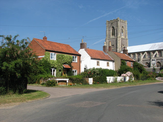 Front Street Houses and St Mary's Church