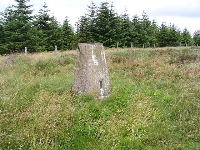 The triangulation pillar on Fanna Hill
