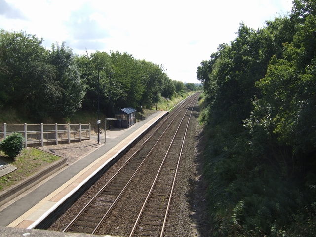 Eastbound platform at Bilbrook Station