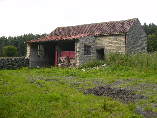 Farm building on the edge of Cropton Forest