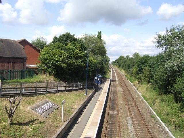 Westbound platform at Bilbrook Station