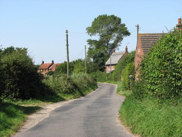 Road past Burnells Farm