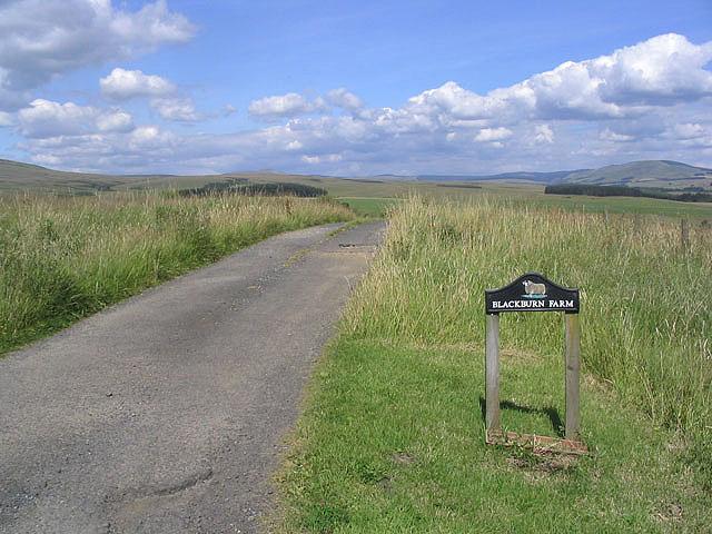 The road to Blackburn Farm