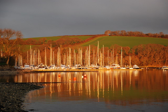 Sunrise at Mylor Yacht Harbour