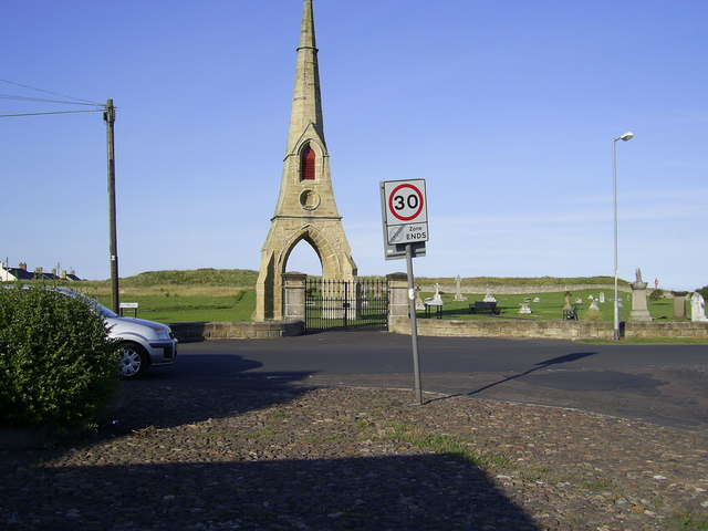 East cemetery at Amble