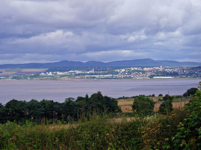 Dundee and Craigowl Hill in the Sidlaws, across the Tay