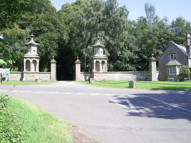 West  Lodge Gates at Chillingham Castle
