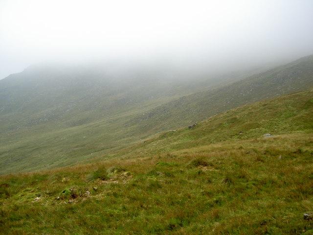 The fellside below the hidden Gavel Pike