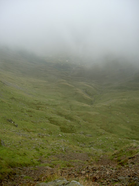 The steep path down Sleet Cove