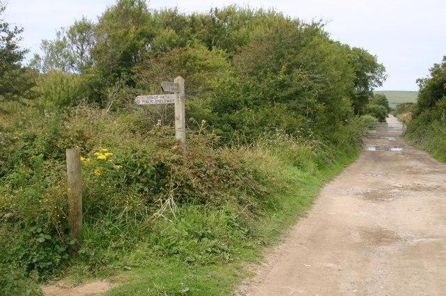 The South West Coast path heading towards Saunton