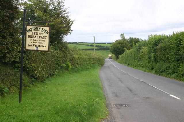 A39 passing Waytown farm