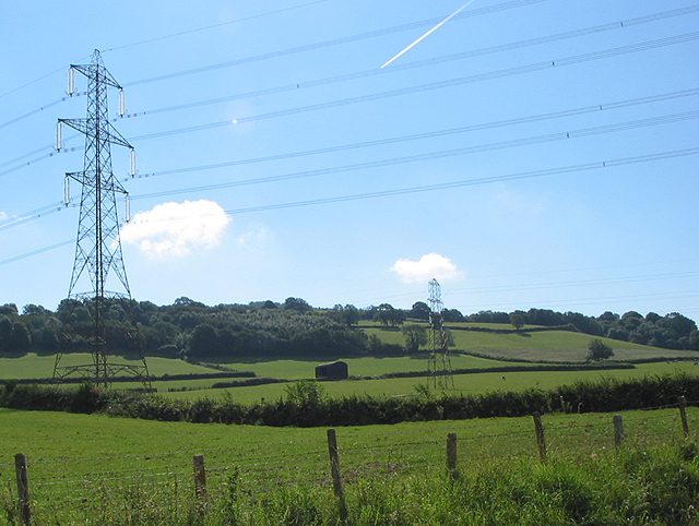 Power lines NW of May Hill
