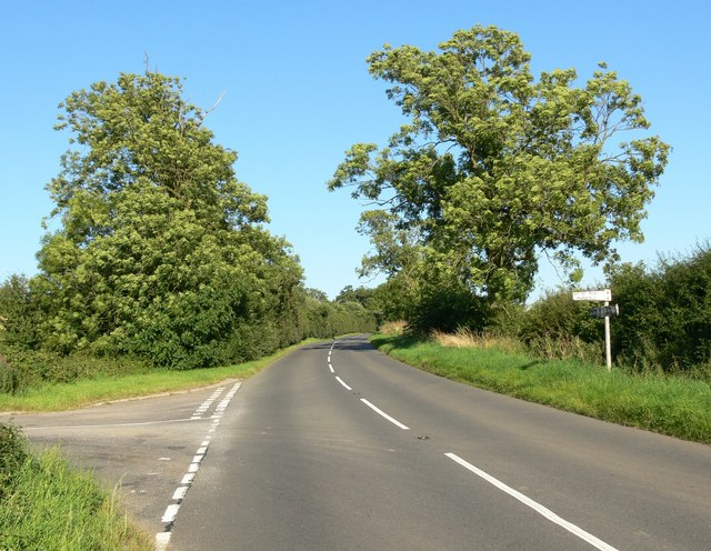 Oakham Road near Whatborough Hill