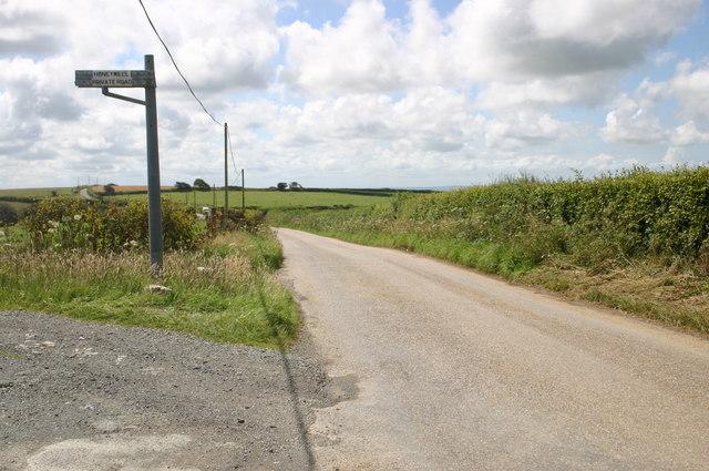 Honeywell private road