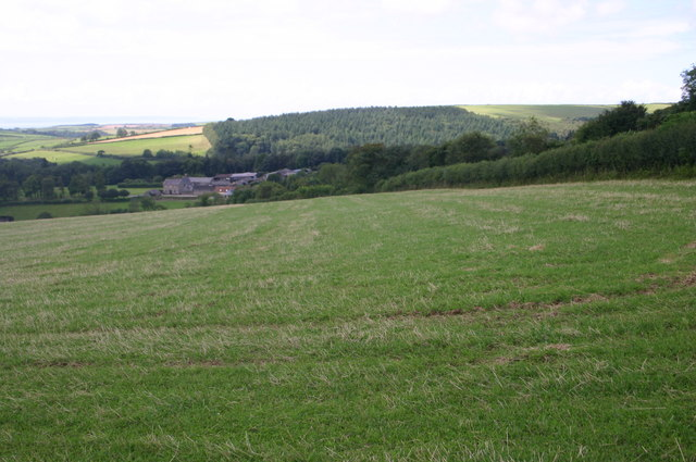 Looking from Whitefield hill to Whitefield Barton