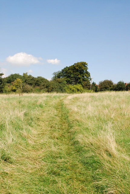 Footpath near Robins Wood, Iron Acton