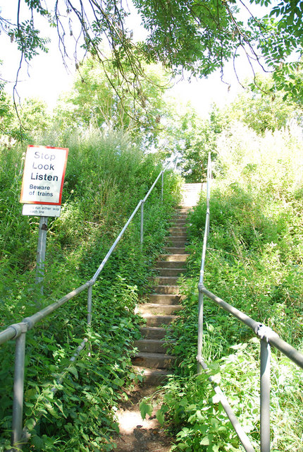 Steps leading to the railway