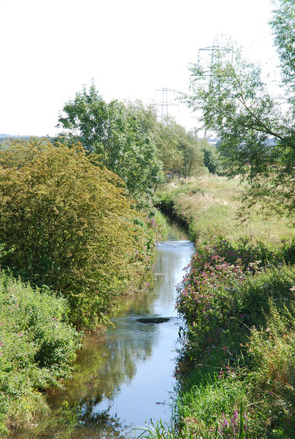 River Frome, upstream, from Tubbs Bottom