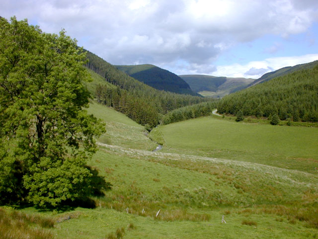 The Myherin Valley from Nantsyddion