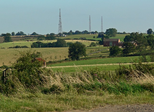 Countryside viewed from Tilton Lane