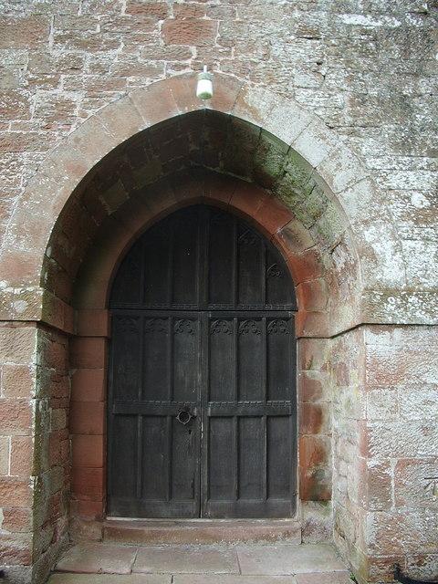 Door, St Hilda's Church, Westward