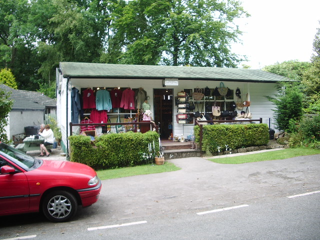 Gift shop at Woodlands Tea Room Santon Bridge