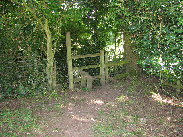 Stile on the Gloucestershire Way near Boughspring