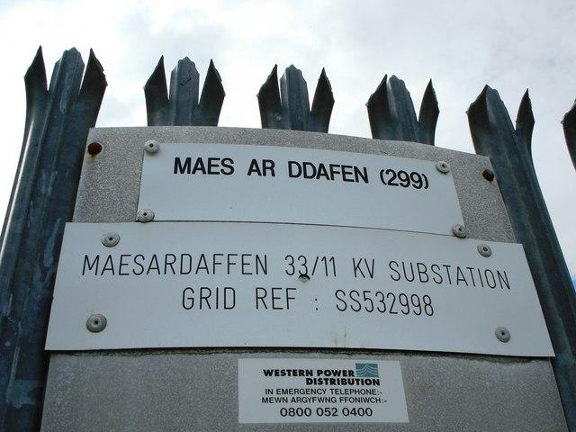 Maes ar Ddafen sub station