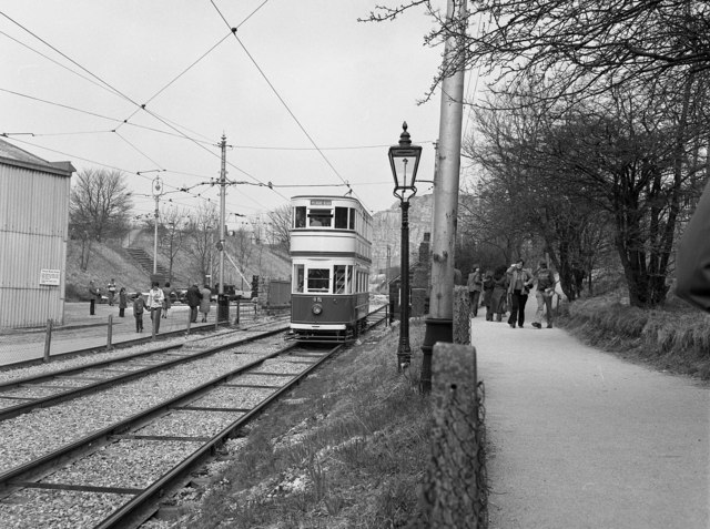 A Blackpool tram at Crich