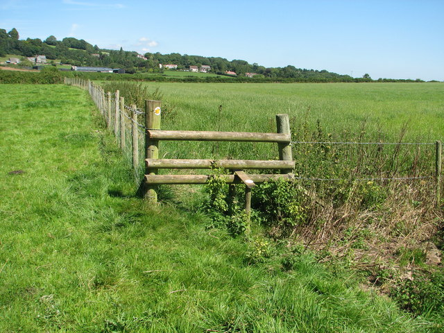 Rickety stile on the Gloucestershire Way
