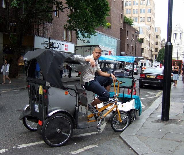 Bicycle rickshaw in Longacre