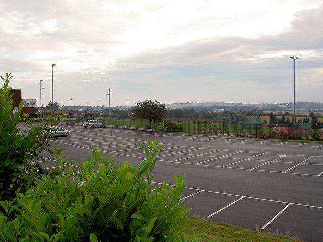 Car park at Dorothy Hyman stadium.