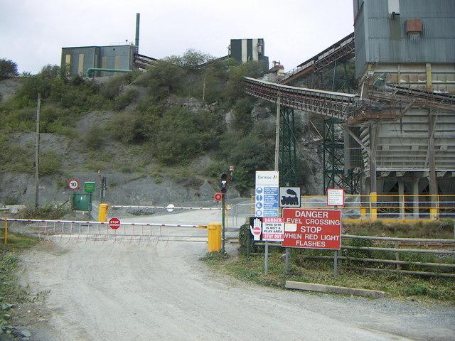 Level crossing, Chwarel Minffordd