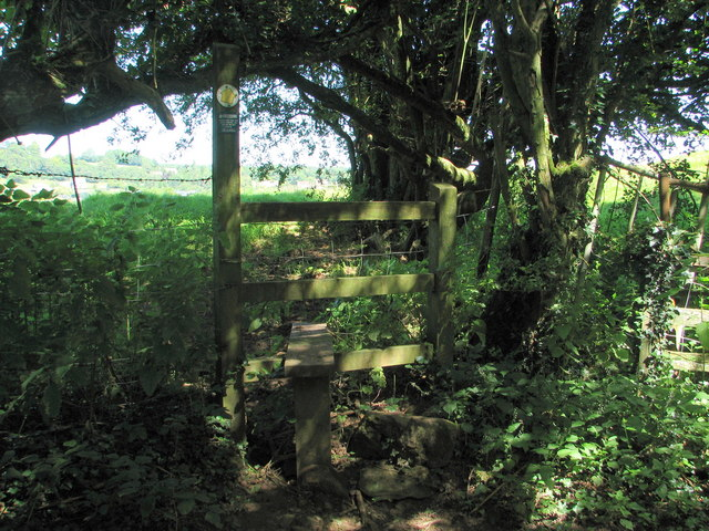 Stile on the Gloucestershire Way near Netherhope