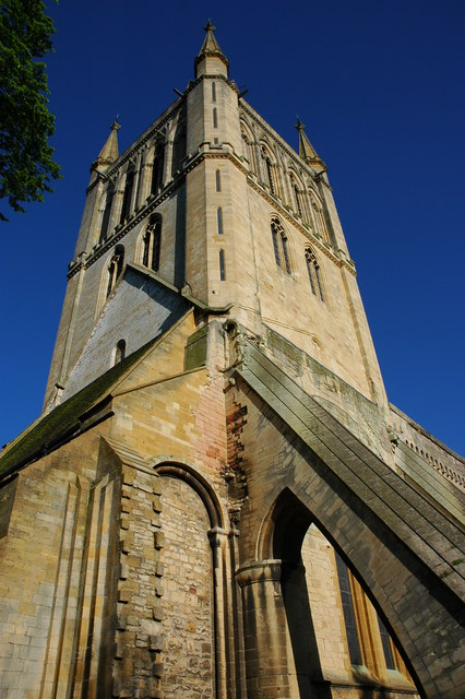 Tower of Pershore Abbey