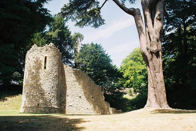 Sherborne Castle: sham ruin