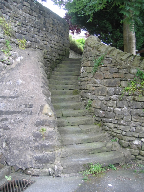 Steps from Well Hill Close to Castlebergh Lane