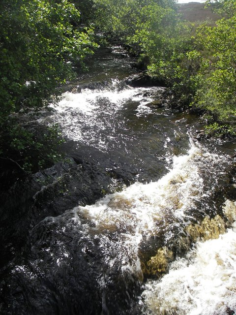 View up the Milton Burn from the footbridge