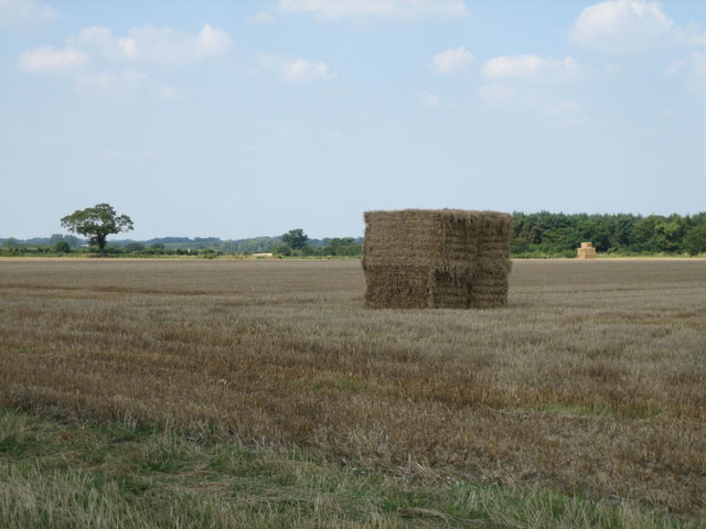Big bales stacked and ready for transport