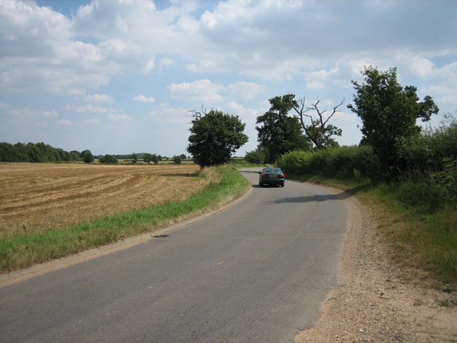 Bends in the road near Longham Hall