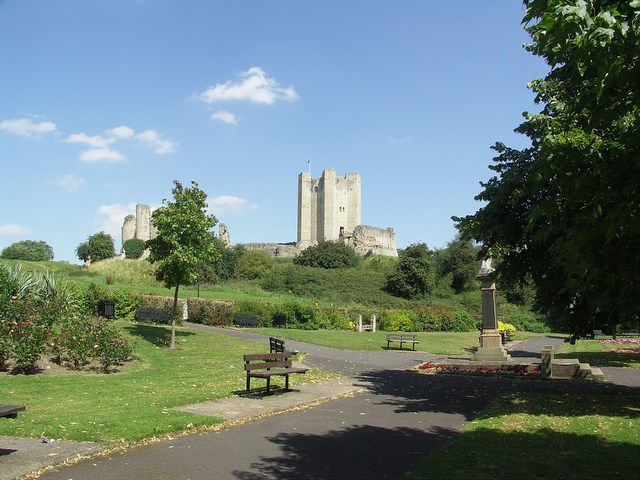 Conisbrough Castle from the Gardens