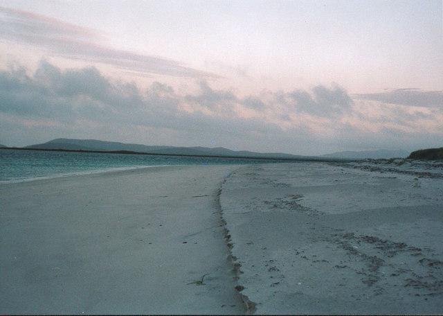 Beach north of Berneray youth hostel