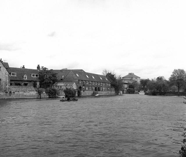 Thames Riverside at Abingdon, with the old gaol